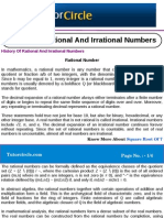 History of Rational and Irrational Numbers