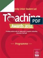 Teaching Award Prog 2012