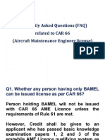 FAQ Frequently Asked Questions CAR66
