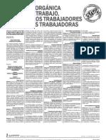 Ley Orgánica del Trabajo. Venezuela 2012