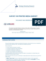 Survey on Printed Media Market, June 2008