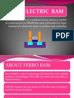 Ferroelectric RAM