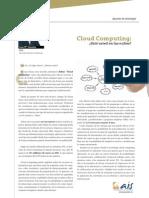 Cloud Computing ¿Está usted en las nubes?