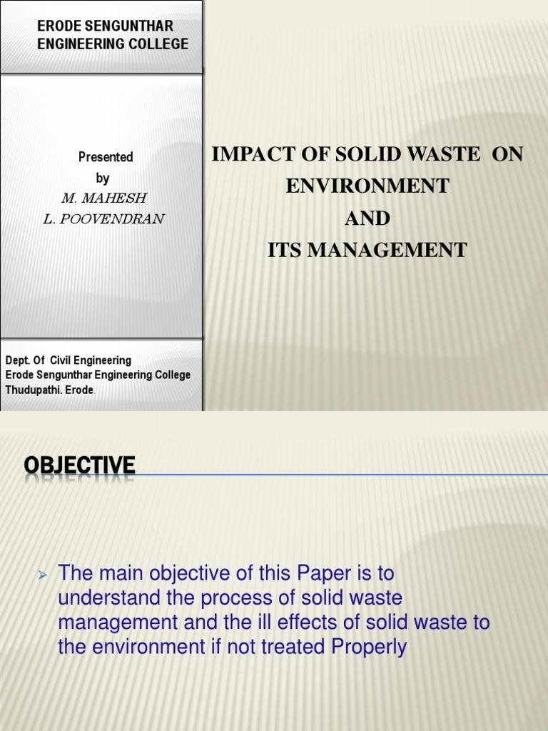 Solid Waste Management Slide Show | Compost | Municipal