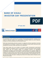 Bank of Kigali Investor Day Presentation 27th April 2012