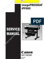 CANON Image Pro Graf iPF600 Service Manual Pages