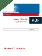 TI MCU Techday April 182012