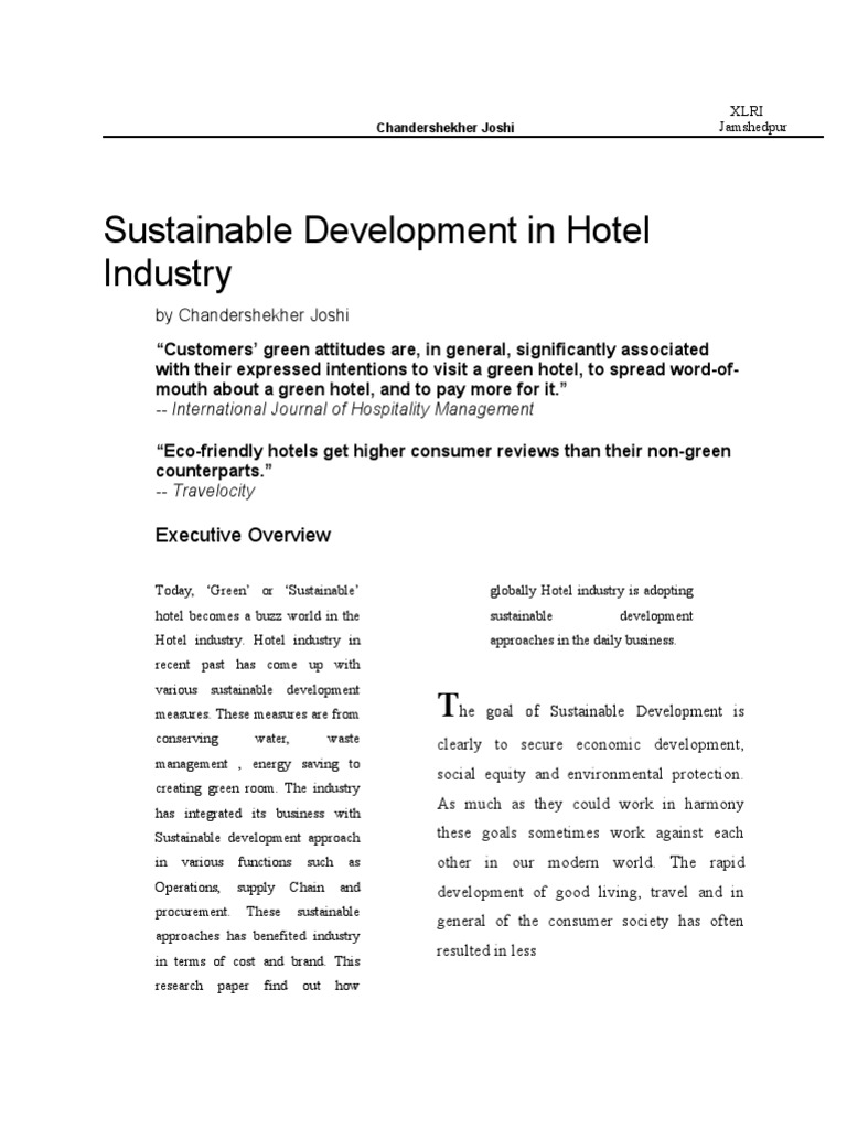 sustainable hotel design