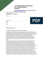 regionalismo e integración en américa latina