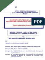 Le Marketing stratégique au service du développement des espaces d'accueil industriels  région de Rabat-Salé-Zaër