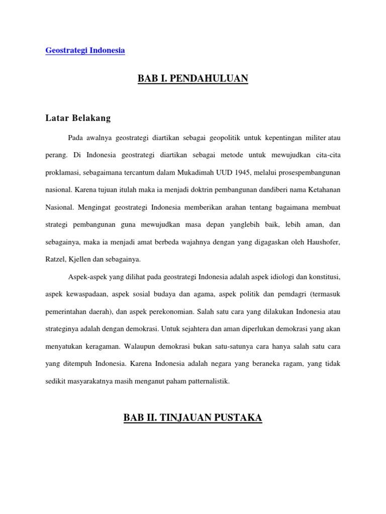 Tujuan Geostrategi Indonesia