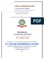 Near Field Communicatio Seminar Report