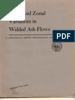 Welded Ash Flow Tuff Zonation