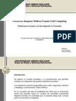 Gestion de Imagenes Medicas Usando Grid Computing