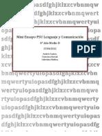 Mini Ensayo PSU Lenguaje y Comunicación