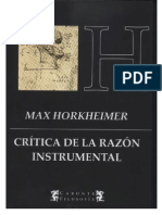 HORKHEIMER(1947)-Crítica de la razón instrumental