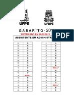 Assistente em Administração_COVEST_UFPE_UFRPE_2011 - Gabarito