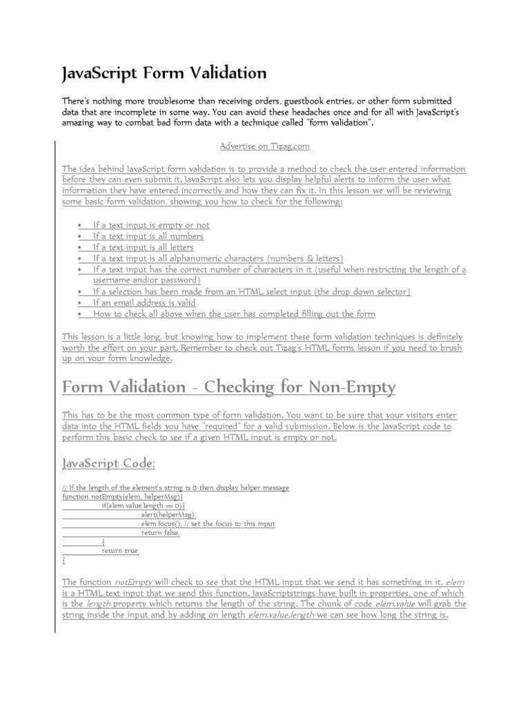 Javascript Form Validation and Cookies | Http Cookie | Java Script