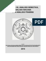 Analisis Isi, Analisis Semiotika Analisis Wacana Dan Analisis Framing