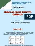 Química - Símbolos dos Elementos Químicos 2