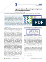 Review on Recent Progress in Nitrogen-Doped Graphene Synthesis, Characterization, And Its Potential Applications