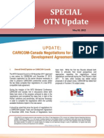 OTN Special Update - An Update on the CARIOM-Canada Negotiations for a Trade and Development Agreement