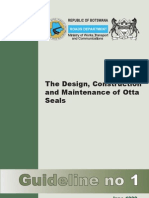 Guideline 1 Design, Construction and Maintenance of Otta Seals