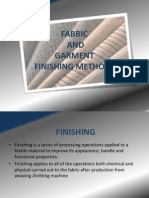 Fabric and garment finishing methods