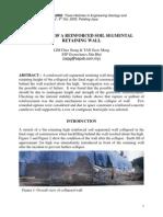 Collapse of a Reiinforced Soil Segmental Retainign Wall