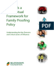 Towards a Conceptual Framework for Family Proofing Policy