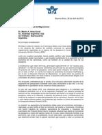 Carta IATA a DNM Por Demoras EZE