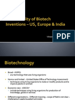 Patentability of Biotech Inventions - US, Europe and India - An Overview @NLSIU