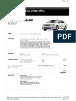 Toyota Avalon Workup