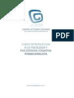 Programa Curso Teorico Posracionalismo - Centro Guidano 2012