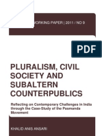 PWP No 9 Pluralism, Civil Society and Subaltern Counterpublics Online