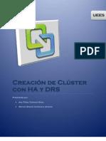Creación de Clúster con HA y DRS