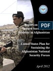 Report on Progress Toward Security and Stability in Afghanistan