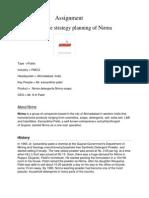 Future Strategy Planning of Nirma