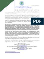 MoSVY Cambodia Immediate Press Release UNCRPD