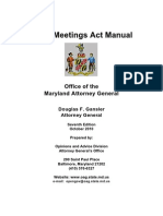 Maryland Open Meetings Act Manual Complete