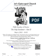 St. Martin's Episcopal Church Worship Bulletin - May 6, 2012 - 10:15 a.m.