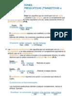 Clases de Oraciones Simples. Atributivas y Predicativas ( Transitivas e Intrasitivas