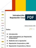 Introduccion a La Reputacion Corporativa
