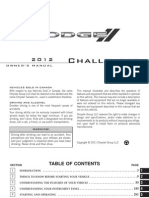 2012 Dodge Challenger Oners Manual 3rd