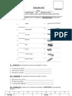 ENGLISH TEST 5º unidad 1
