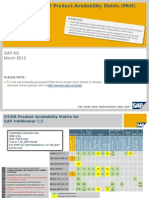 SAP NetWeaver 7.3 Product Availability Matrix (PAM)
