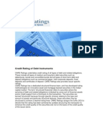 Credit Rating of Debt Instruments