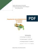 3er Ensayo Organización de la Administración Pública Venezolana