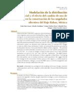 Modelación de la distribución potencial y el efecto del cambio de uso de suelo en la conservación de los ungulados silvestres del Bajo Balsas, México.
