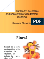 Words in Plural Only, Countable and Uncountable
